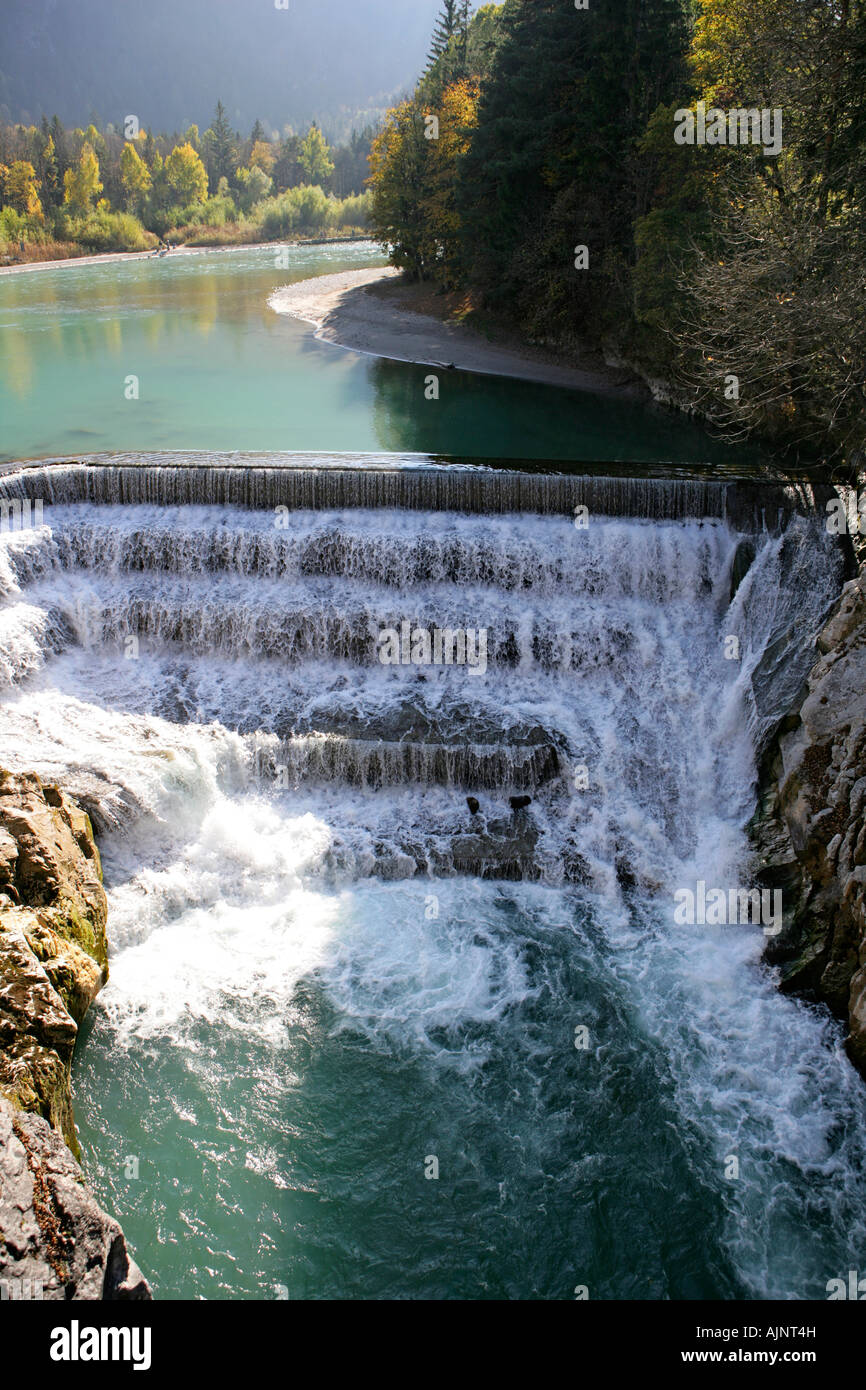 Lechfall and gorge in Fussen Bavaria Germany - Stock Image