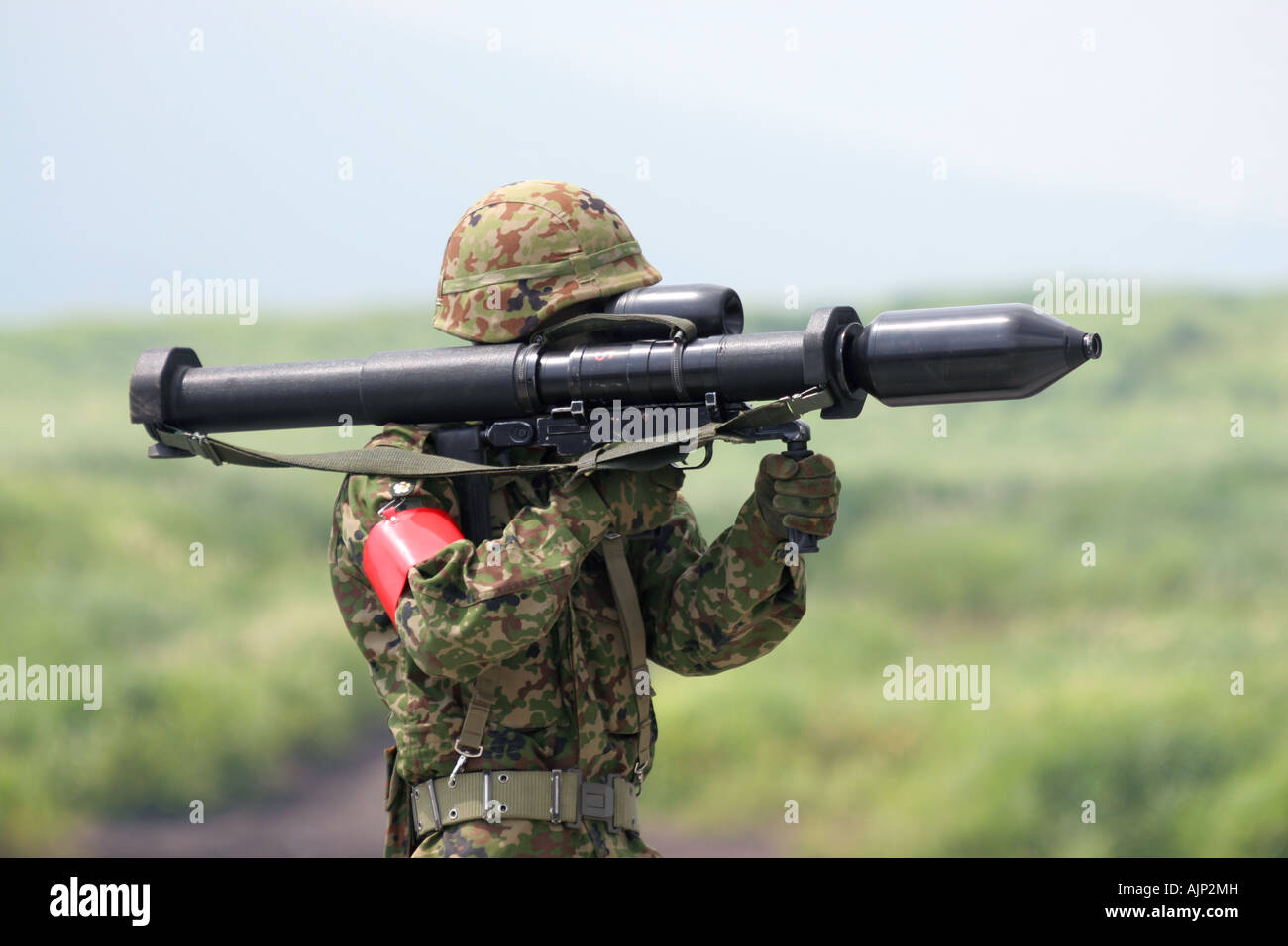 The Panzerfaust 3 Anti-tank rocket launcher of Japan Ground Self-Defense Force - Stock Image
