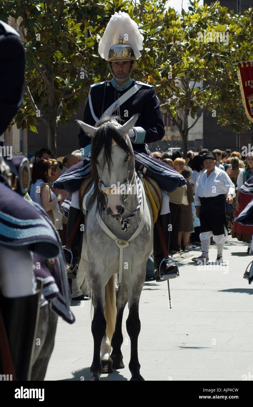Traditional Guard police, Zaragoza, Aragon, Spain - Stock Image