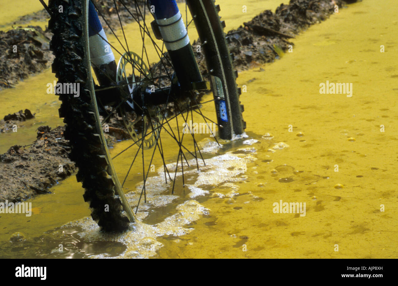 Mountain bike MTB - mud - Stock Image