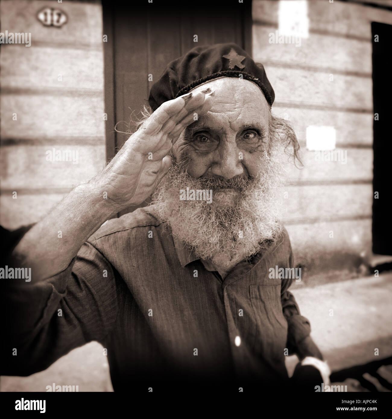 Che Guevara look alike in Havana Cuba - Stock Image