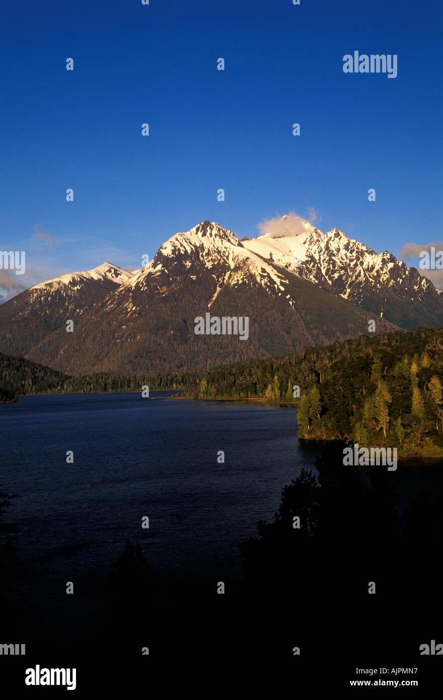 Lake Nahuel Huapi, Nahuel Huapi National Park, Andes Mountains, Rio Negro Province, Argentina, South America - Stock Image