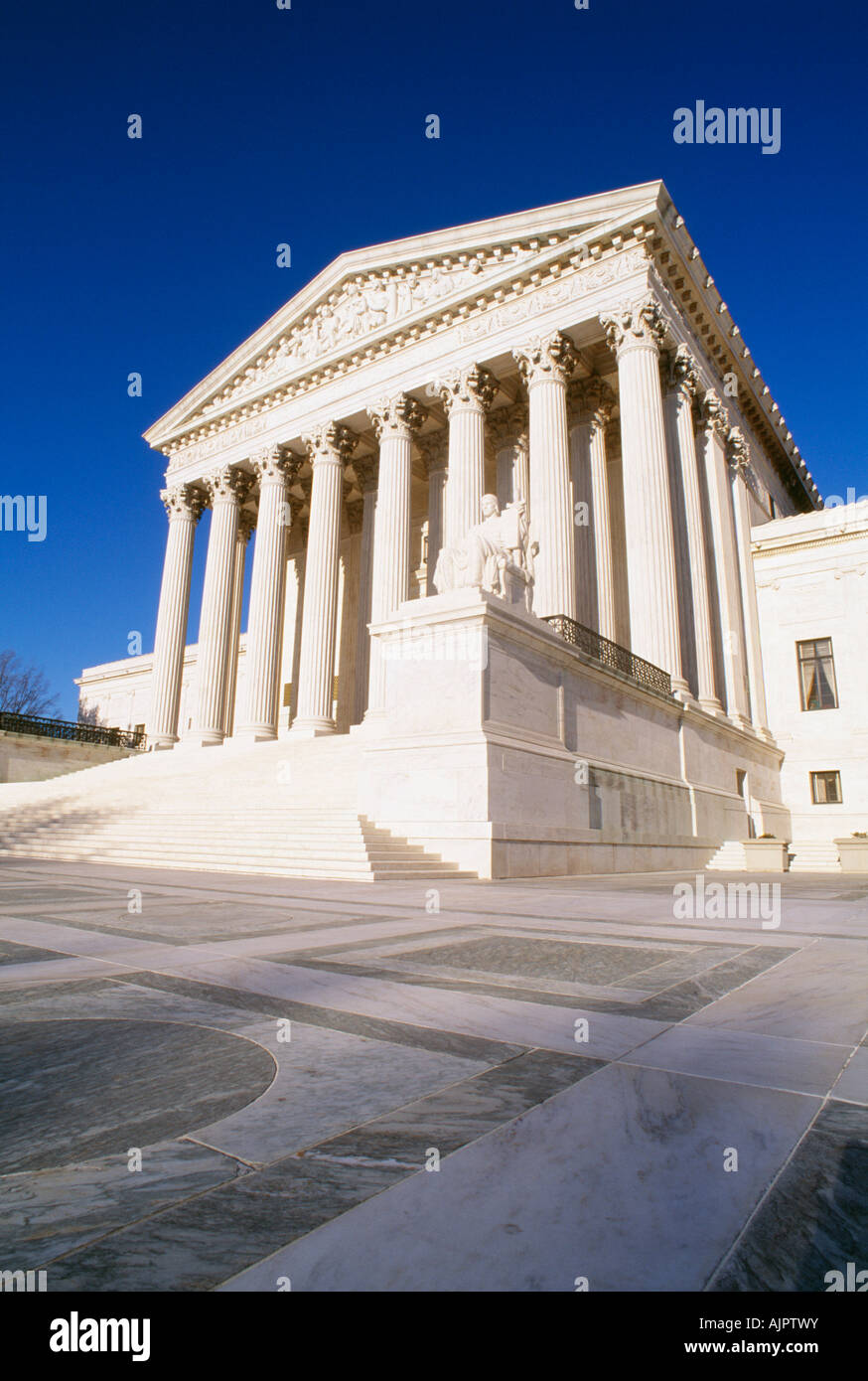 The U.S. Supreme Court Building in Washington, DC - Stock Image