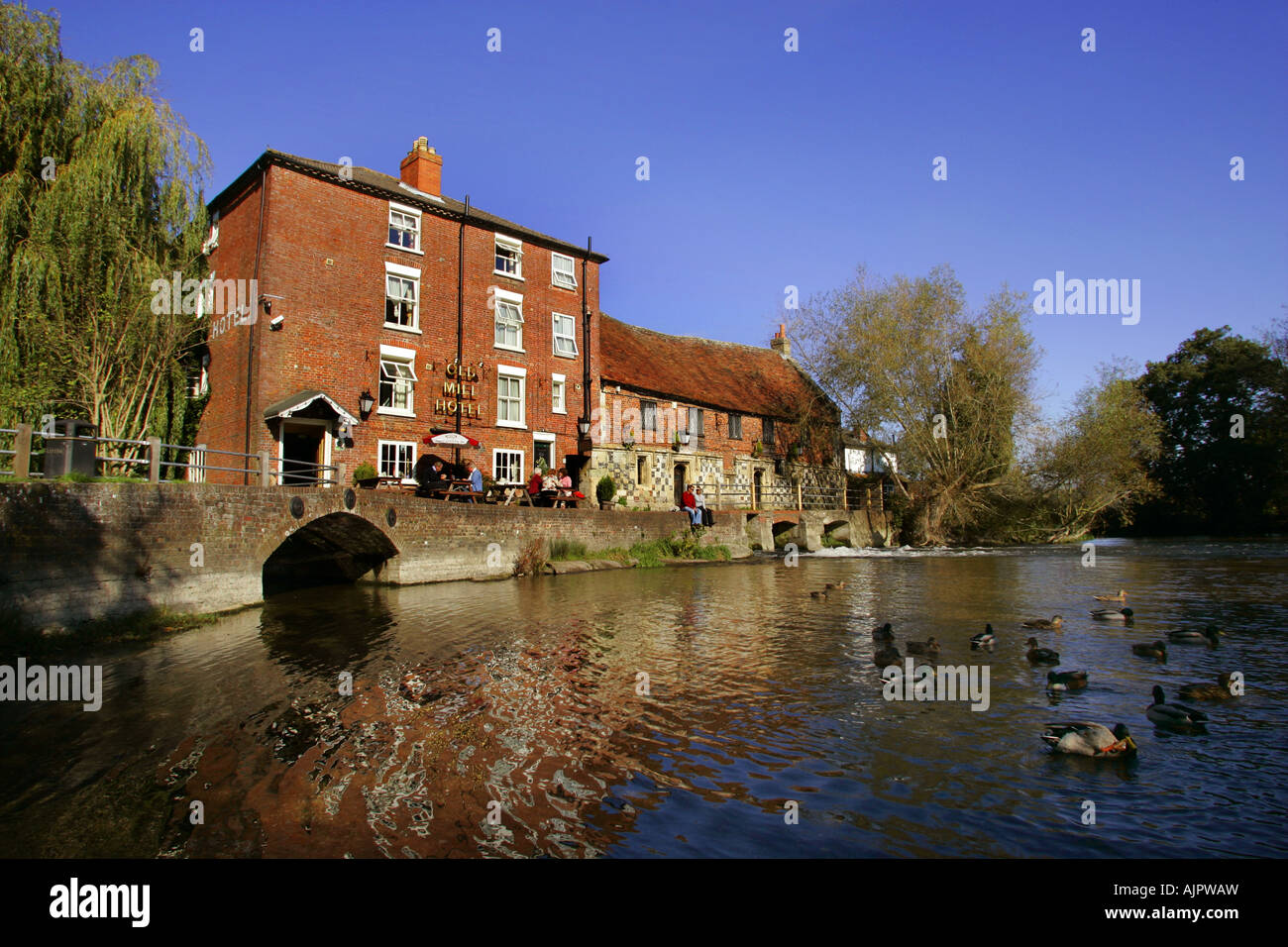 Old Mill Hotel at Harnham in Salisbury, Wiltshire, UK. Stock Photo