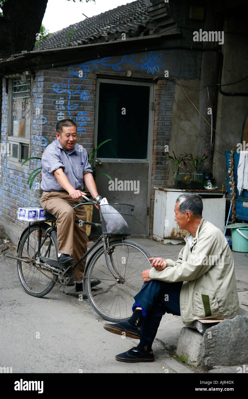 Street scene at a Hutong Beijing China - Stock Image