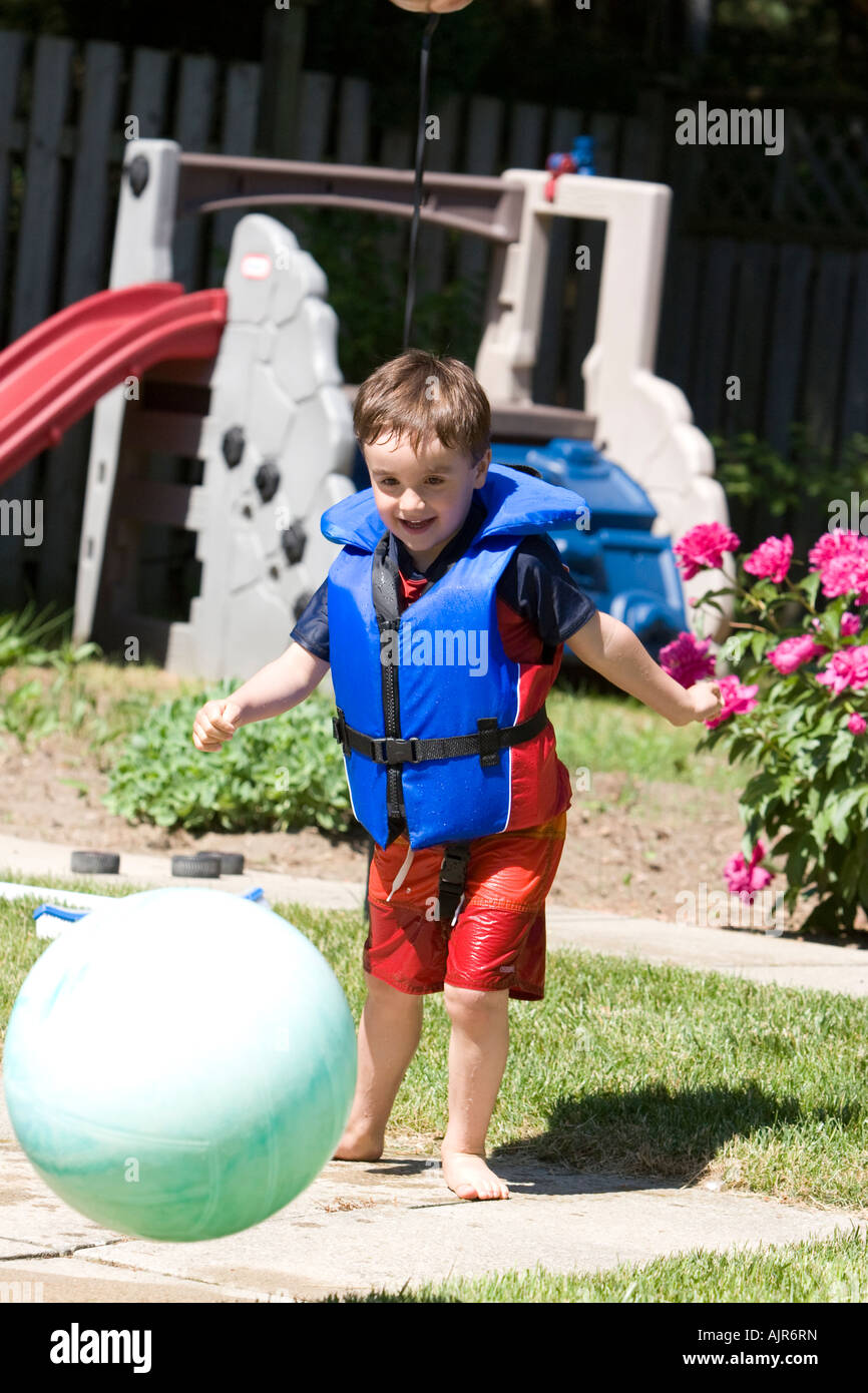 A Child Wearing A Life Jacket Stock Photos Amp A Child