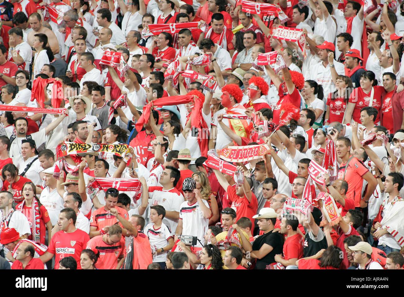 Sevilla Fc Fans Stock Photo Alamy