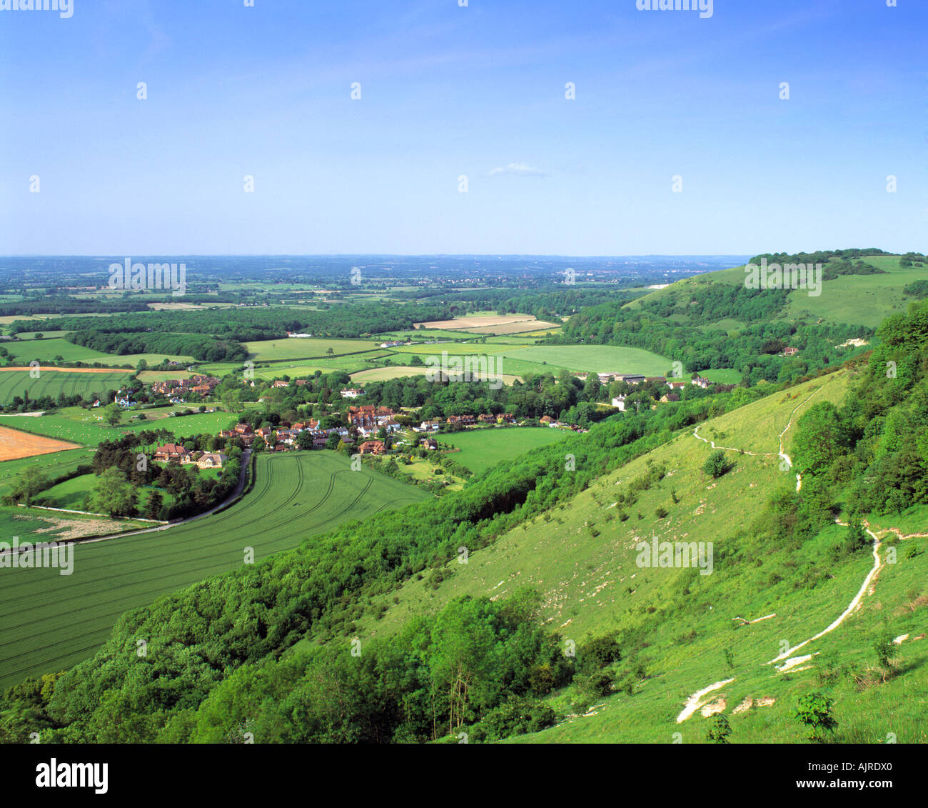 GB SUSSEX SOUTH DOWNS DEVILS DYKE POYNINGS VILLAGE - Stock Image