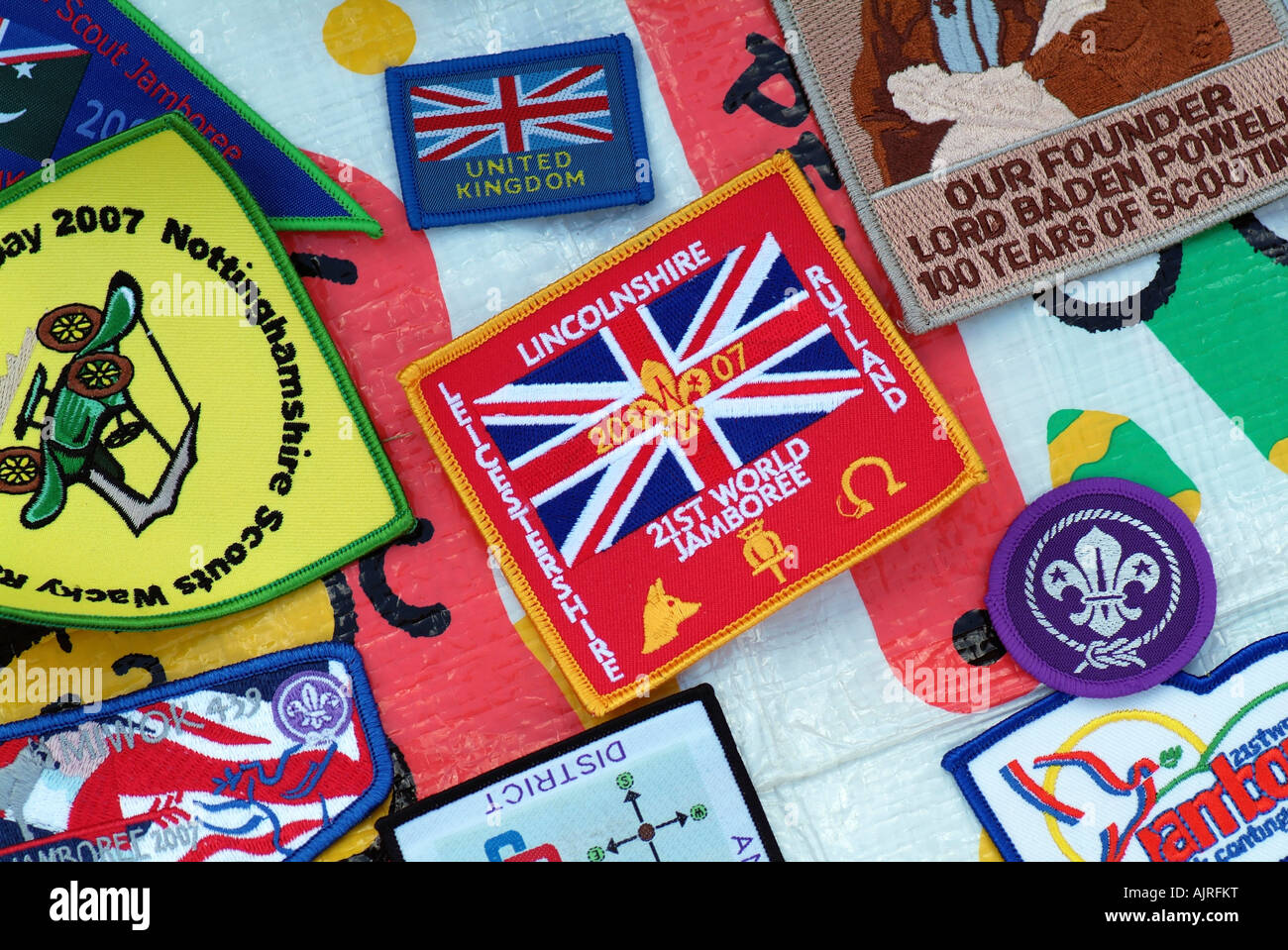 Scout badges - Stock Image