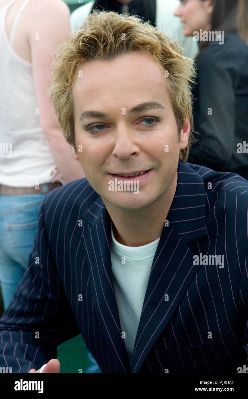 Julian Clary at the Hay Guardian book festival in Wales - Stock Image
