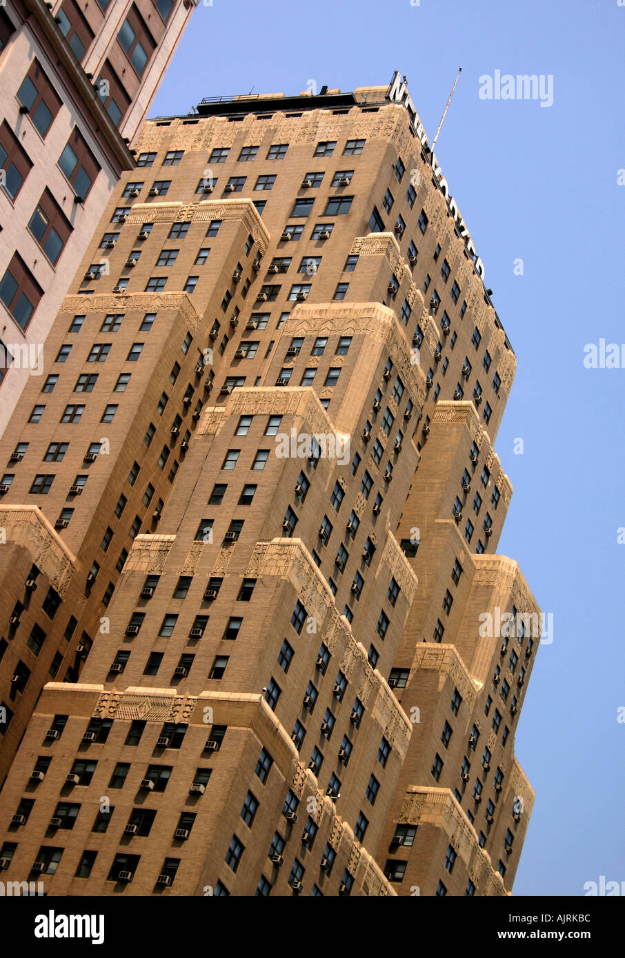 Exterior apex view of the Hotel New Yorker in Manhattan New York NY United States of America USA - Stock Image