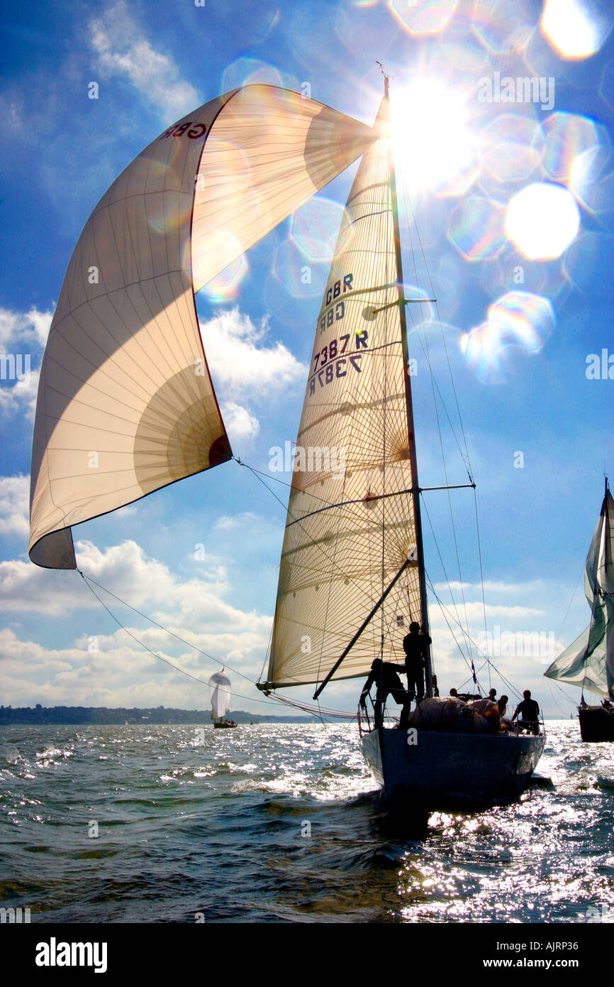 Little Britain Cup yachting event Cowes Isle of Wight England UK - Stock Image