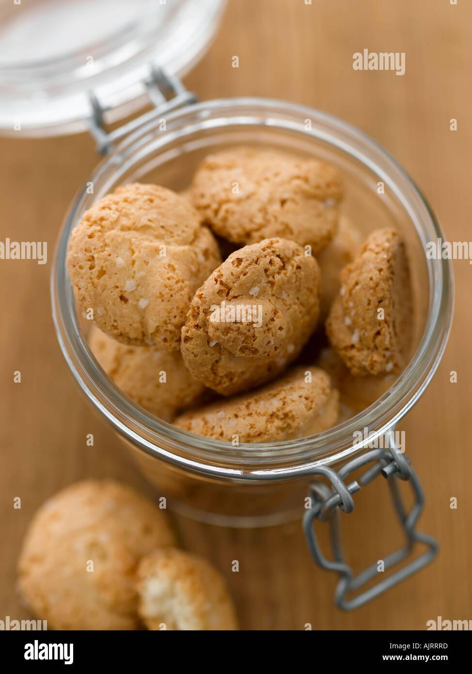 Italian biscotti shot with Hasselblad medium format pro digital camera - Stock Image