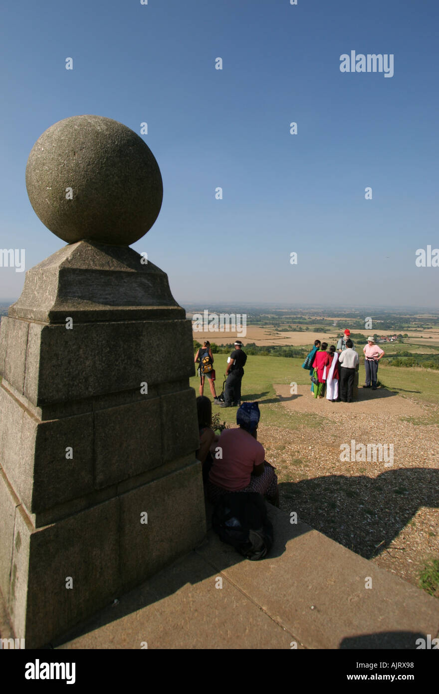 Coombes Hill monument Chilterns Buckinghamshire - Stock Image