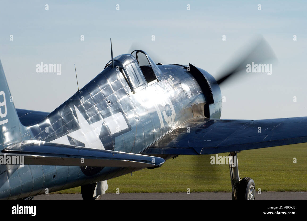 WW2 Fighter American Air Force - Stock Image