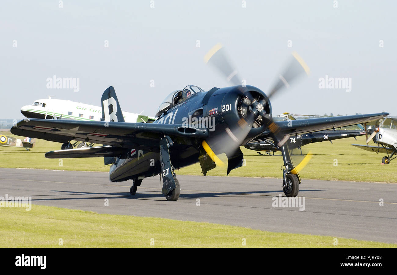 WW2 Fighter at Duxford - Stock Image