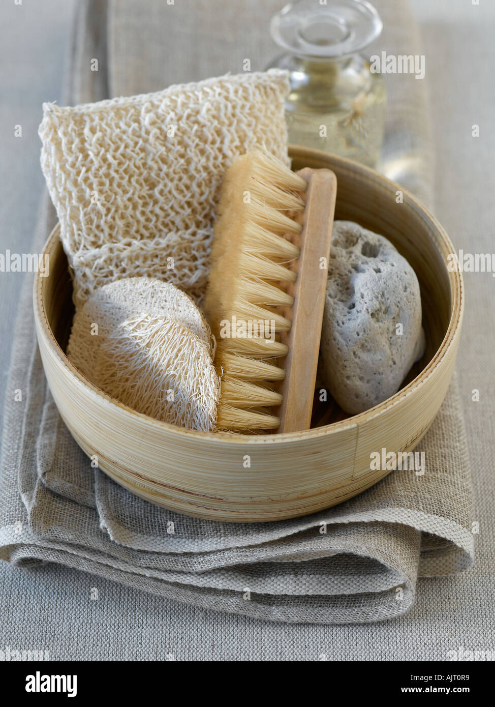 Natural beauty products shot with Hasselblad medium format digital - Stock Image