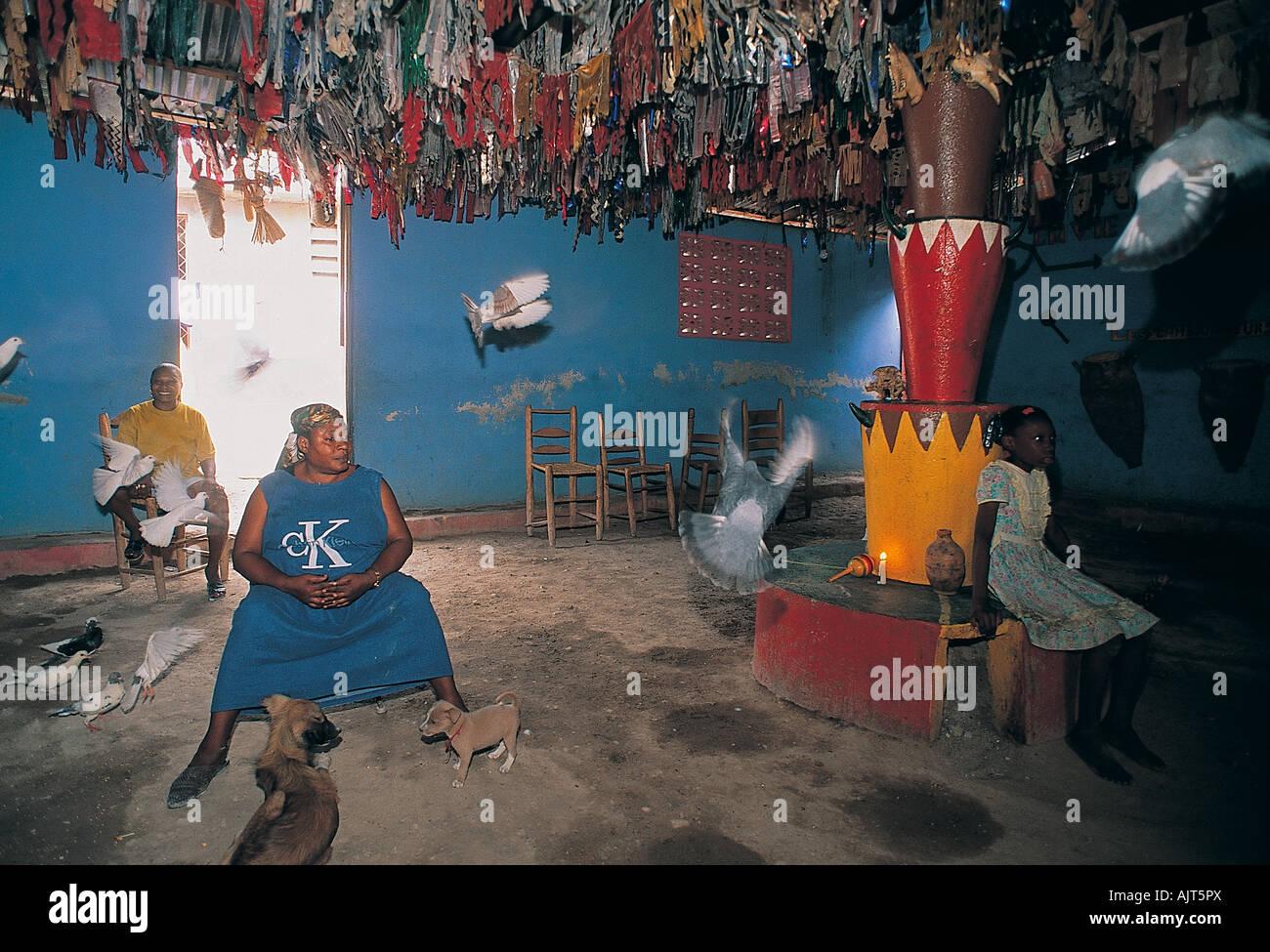 Voodoo ceremony house, Haiti. - Stock Image