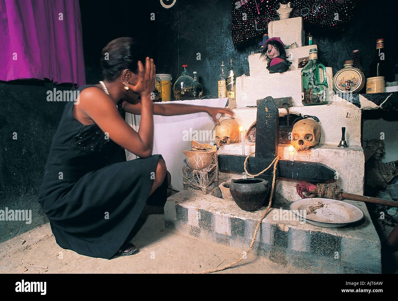 Voodoo ceremony, Haiti. - Stock Image