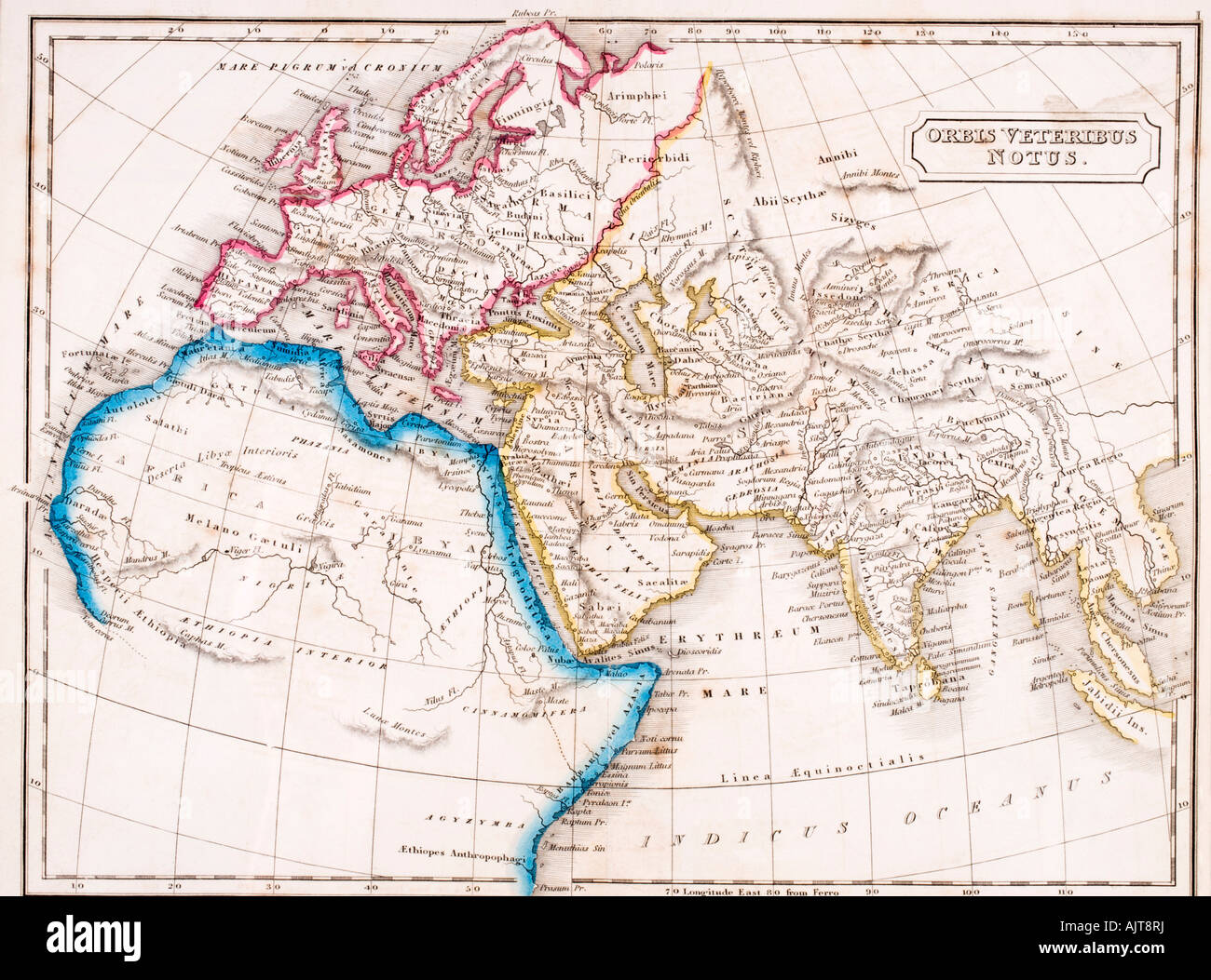 Map of Europe Northern Africa and Western Asia Orbis Veteribus Notus ...