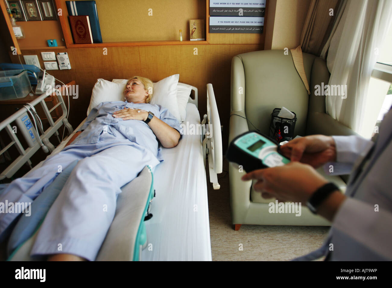 Shirley Anderson was on holidays in China when she had a accident and was evacuated to The Bangkok Hospital Bangkok - Stock Image