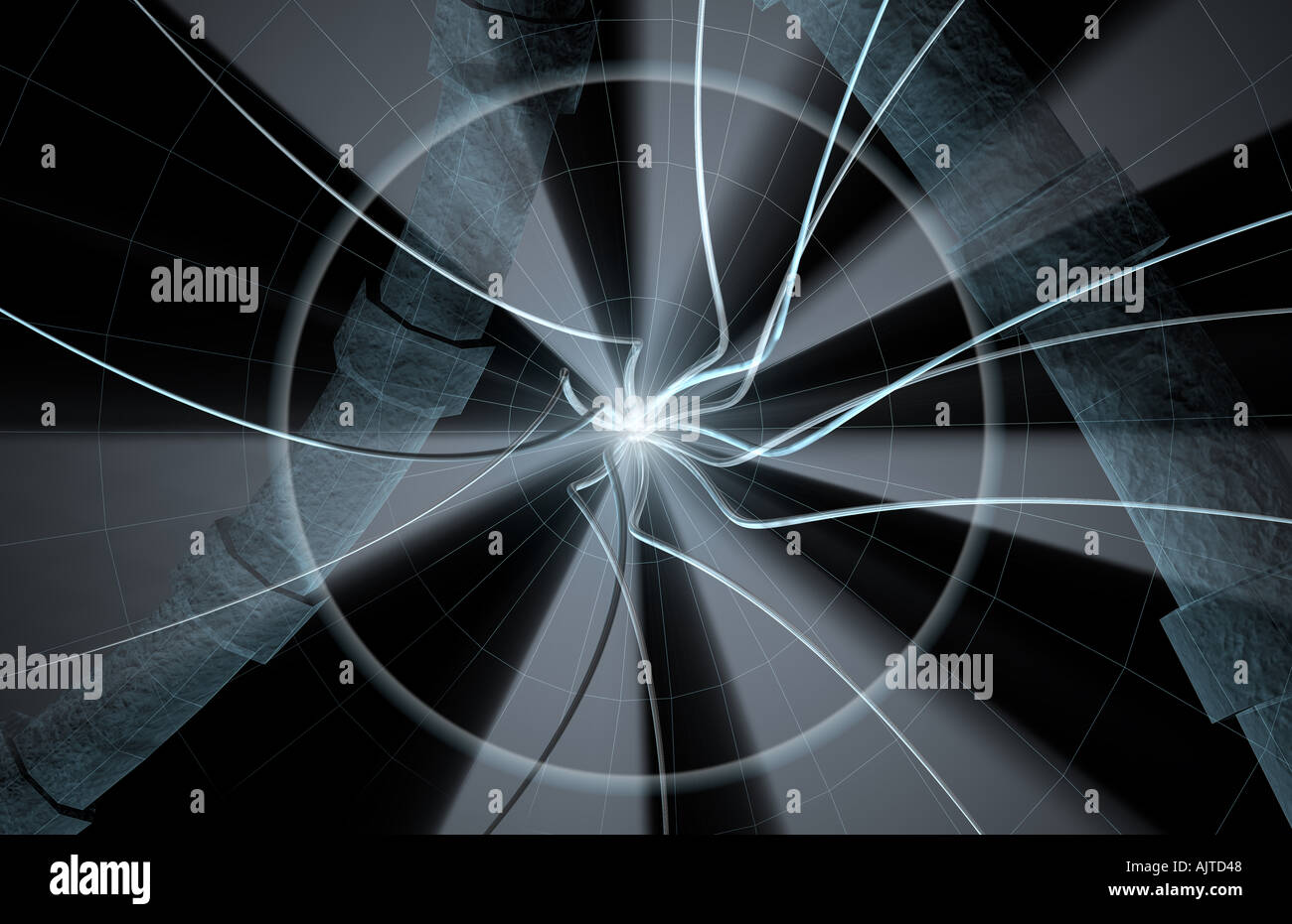 Abstract effect 3 Dimensional concept - Stock Image