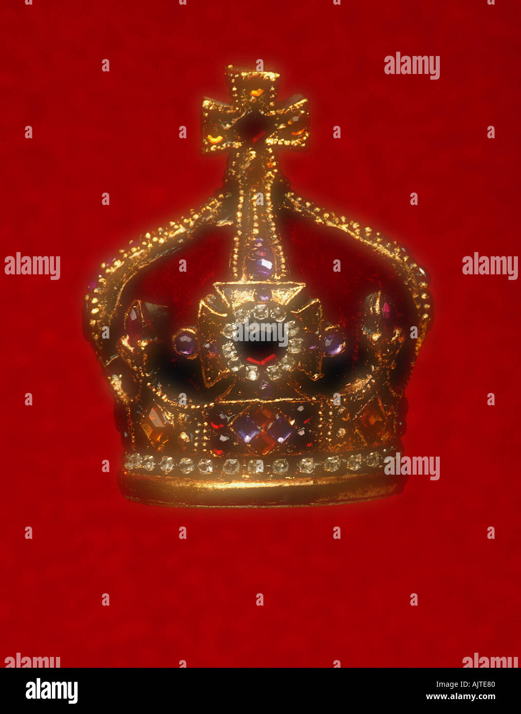 Jeweled crown - Stock Image