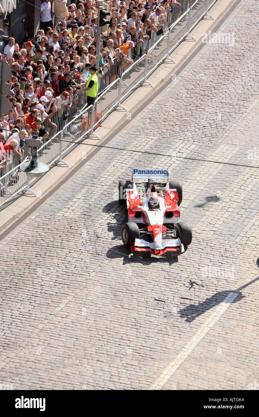 Formula 1 race car at downtown Helsinki, Finland, EU. - Stock Image