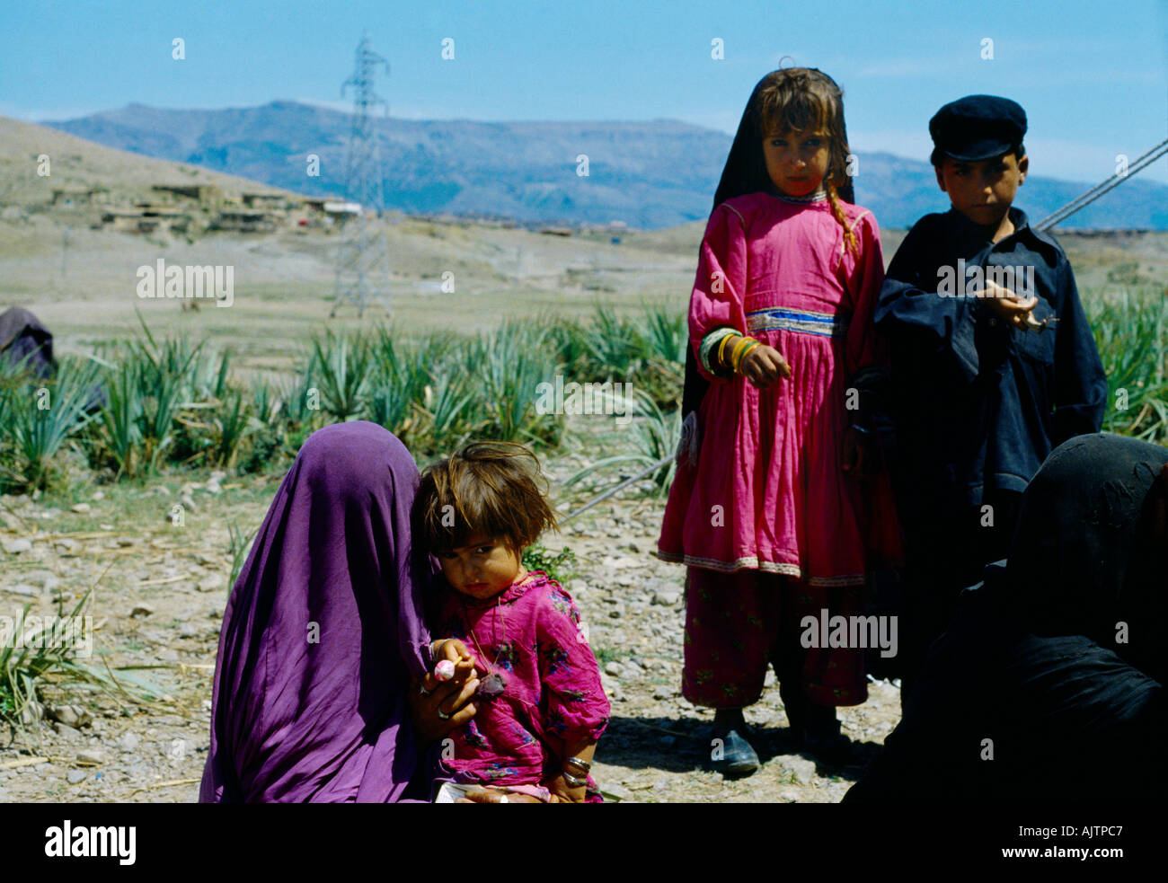 North West Pakistan Swat Chitral Local Children - Stock Image