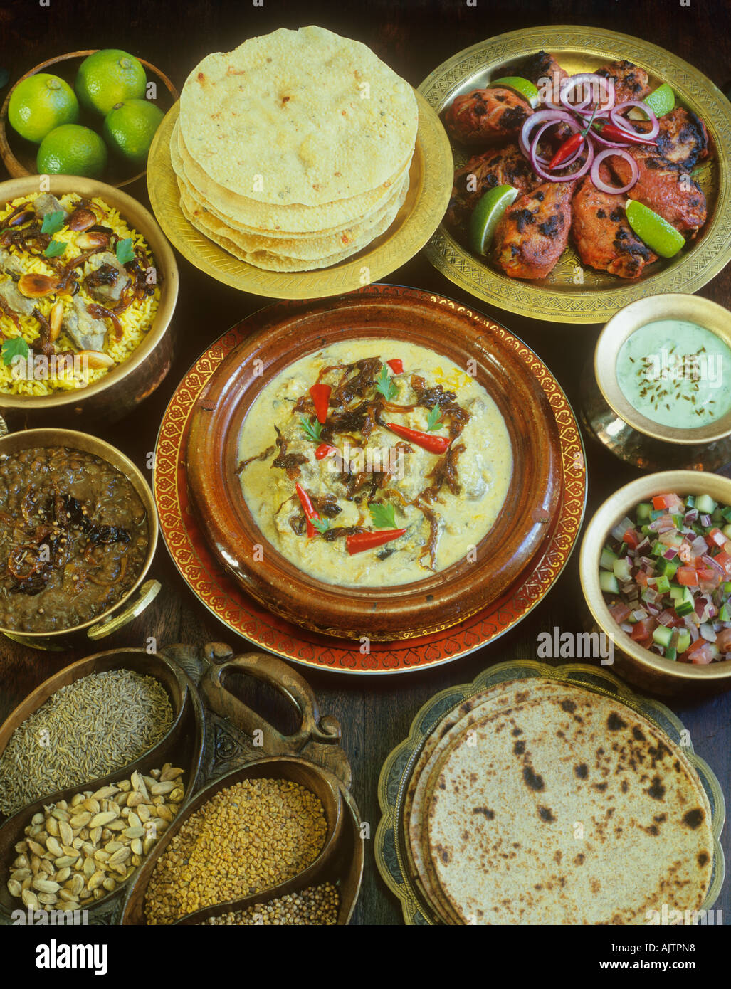 North India Food - Stock Image