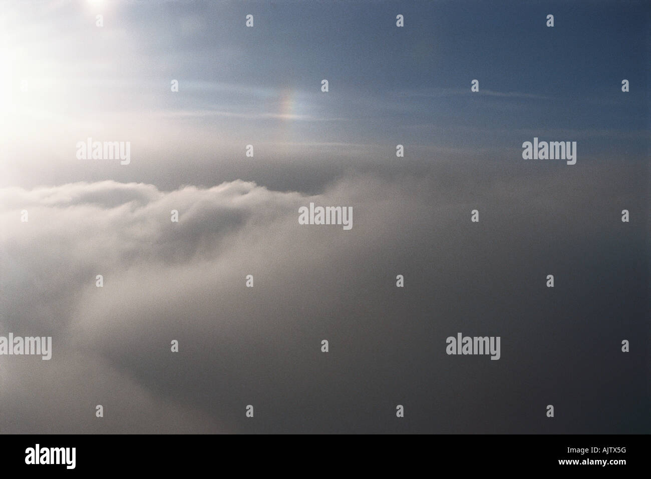 Clouds, aerial view - Stock Image