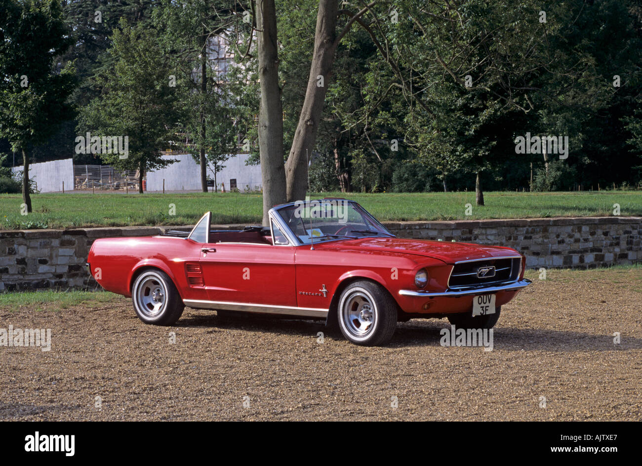 Ford mustang convertible of 1967 stock image