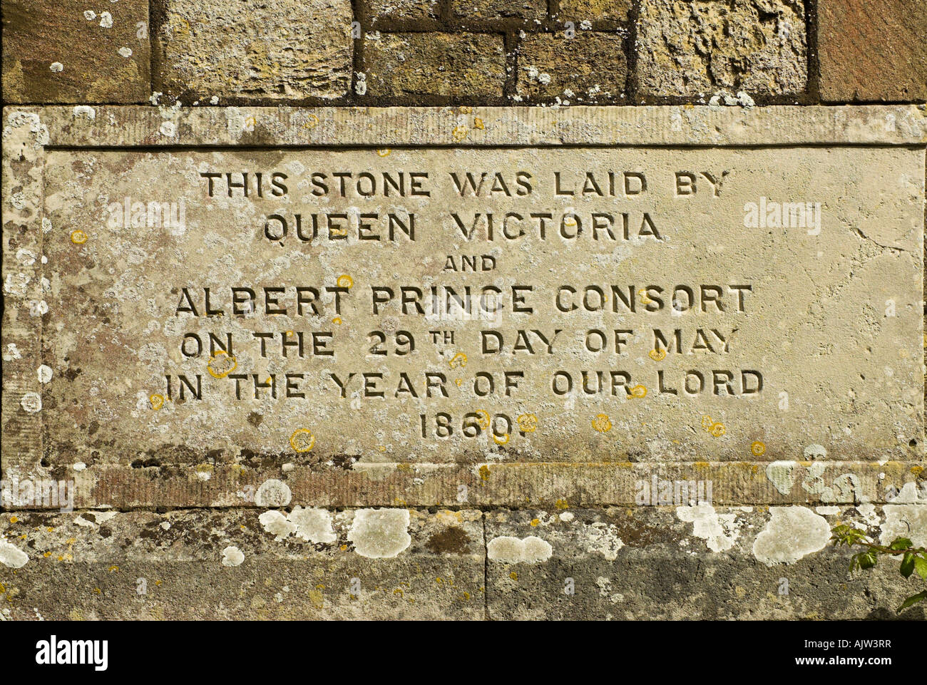 The foundation stone laid by Queen Victoria and Prince Albert - St  Mildred's church, Whippingham near East Cowes, Isle of Wight Stock Photo -  Alamy