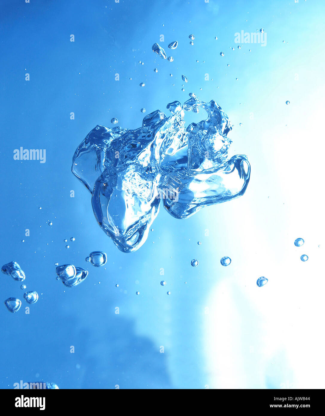 bubble in the shape of a bird - Stock Image