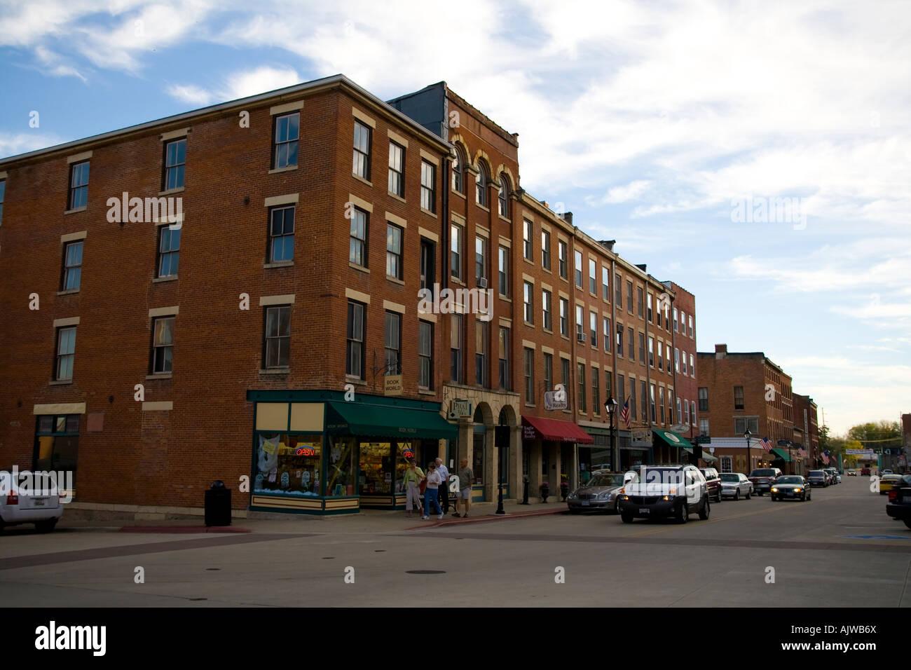Galena Illinois Main Street Shops Restaurants Stock Photo 14815105