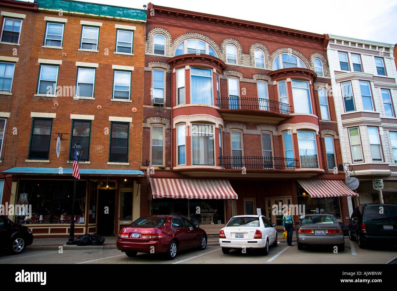 Galena Illinois Main Street Shops And Restaurants Stock Photo