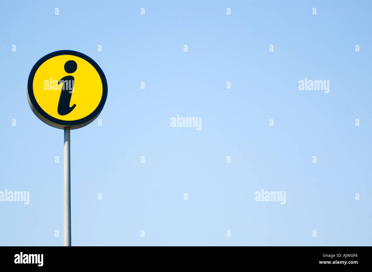 Road sign Info - Stock Image