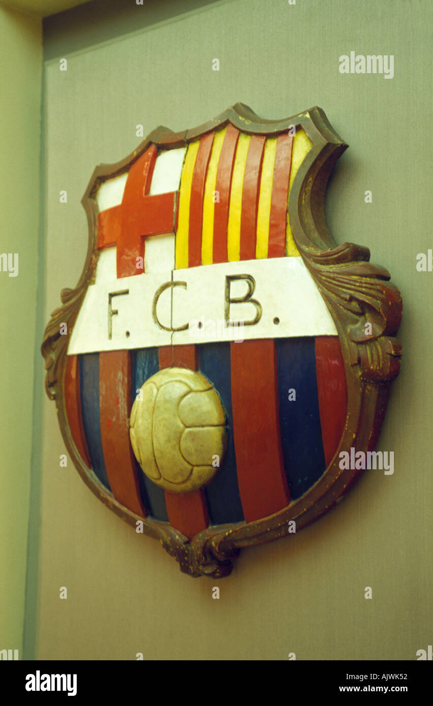 The crest for Barcelona Football Club - Stock Image