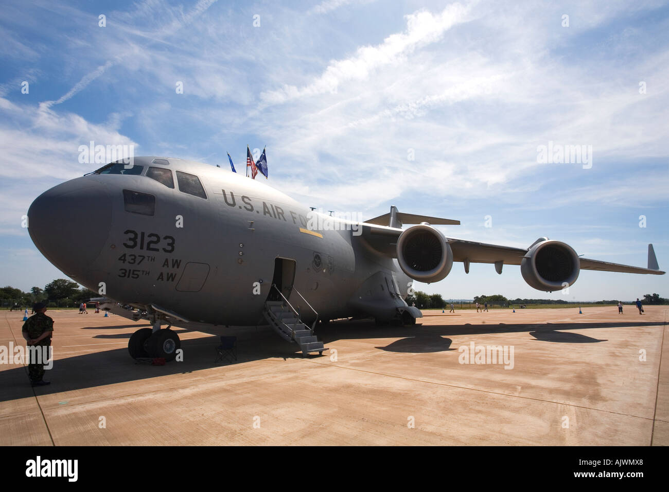 Boeing C-17A Globemaster  US Air Force at Fairford RAF International Air Show Gloucestershire airshow  2006 - Stock Image