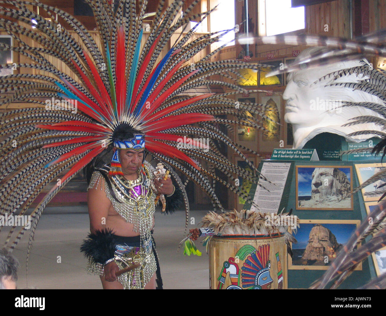 USA South Dakota Sioux Indians Tribal Dance - Stock Image