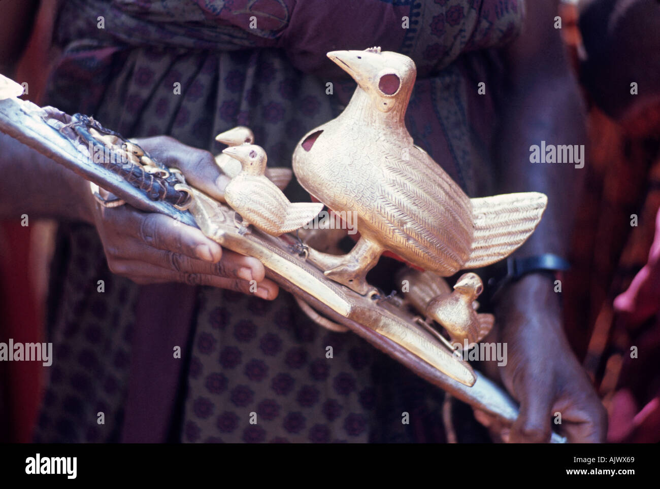 In Kumasi Ghana one of many gold emblems displayed in the ritual ceremonies of Ashante chiefs - Stock Image