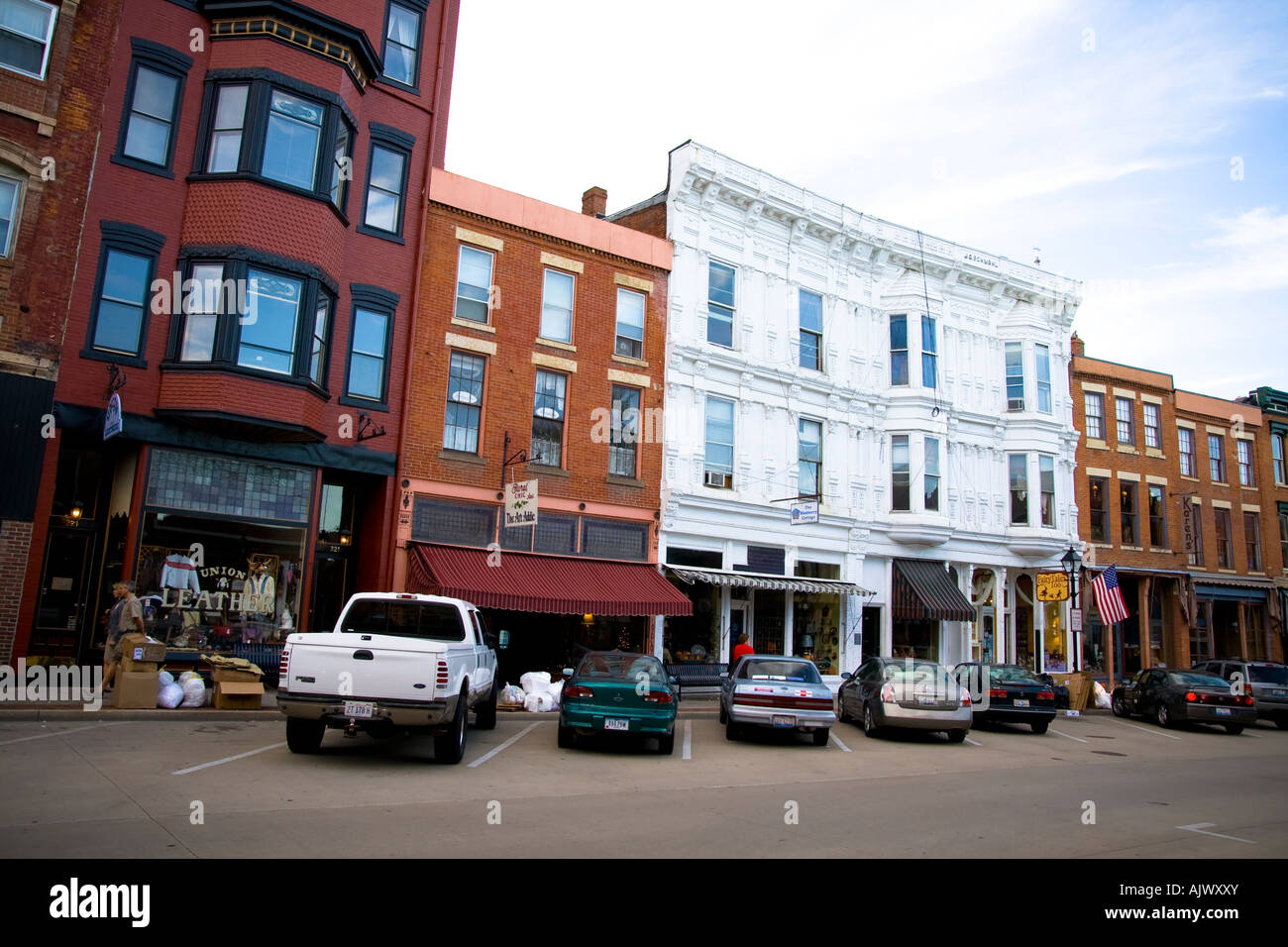 Galena Illinois Main Street Shops Restaurants Stock Photo 14820386
