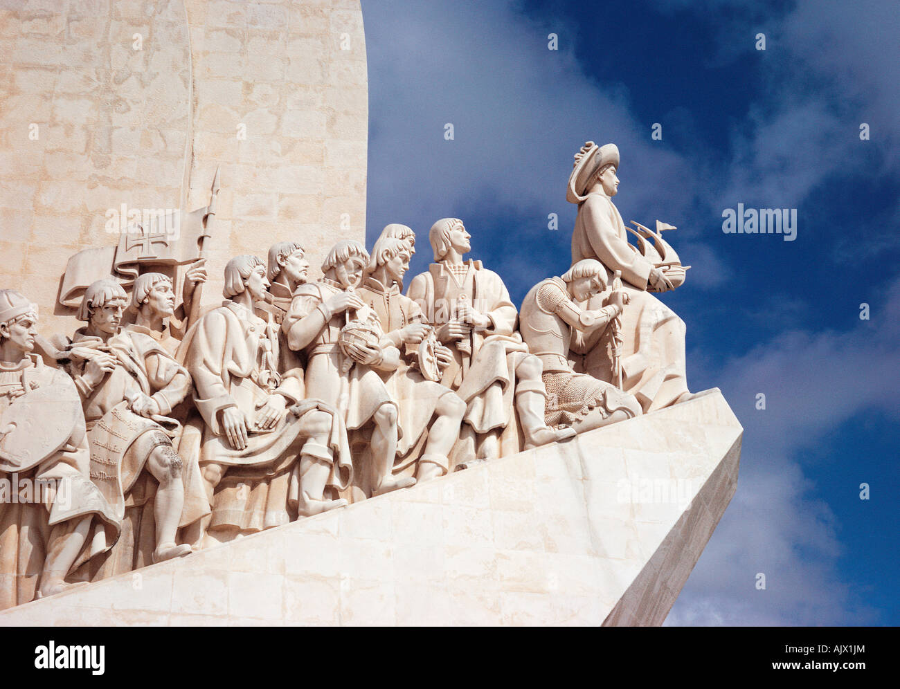 Portugal, Lisbon, Monument to the Discoveries. Stock Photo