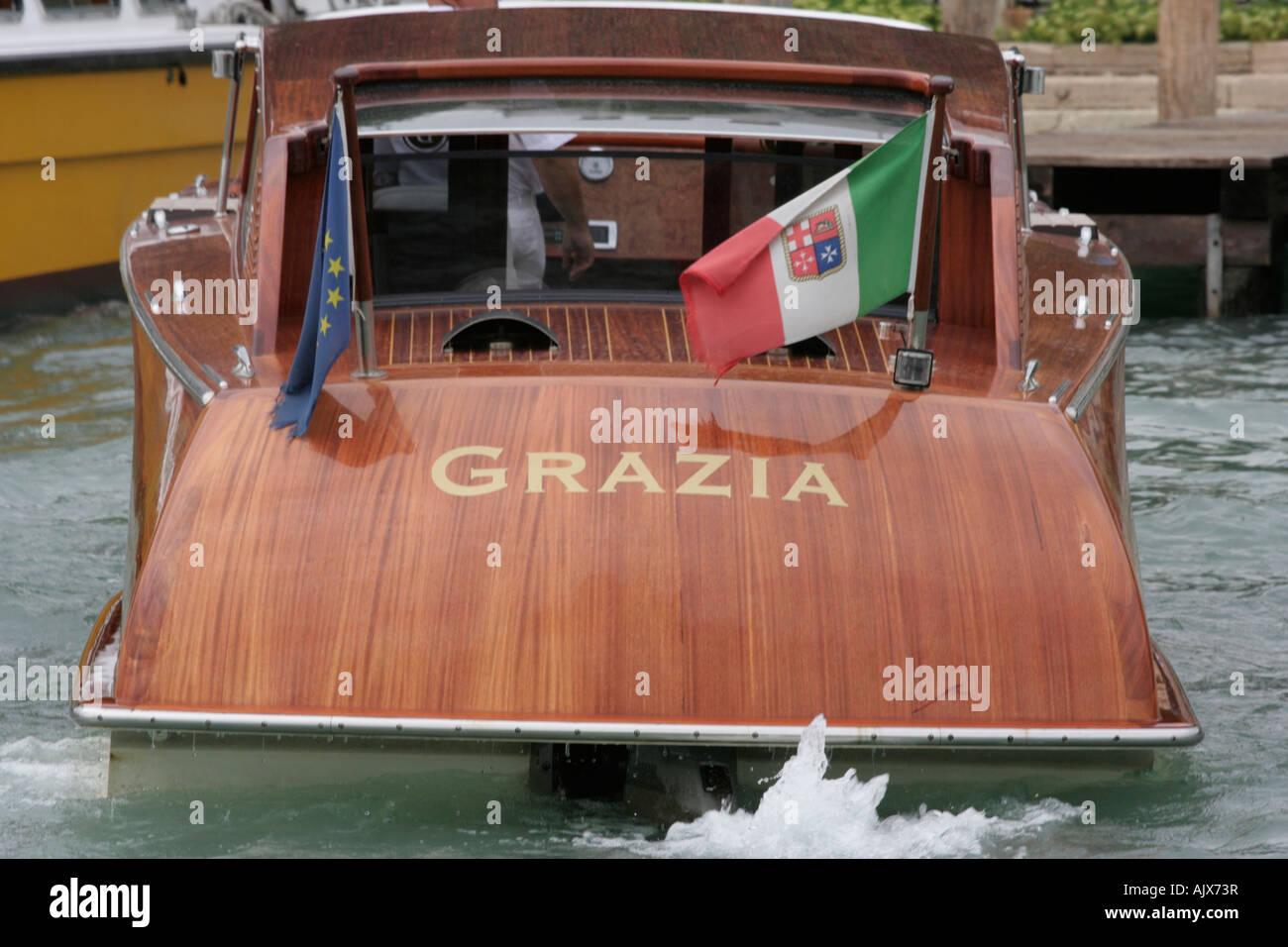 italian water taxi grazia stock photo 14823130 alamy