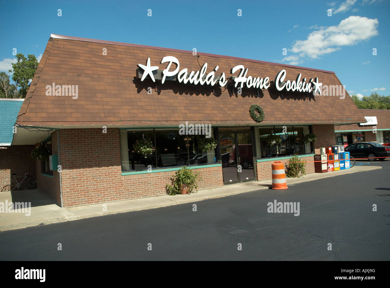 Paula s Home Cooking Restaurant in Bellville Michigan - Stock Image