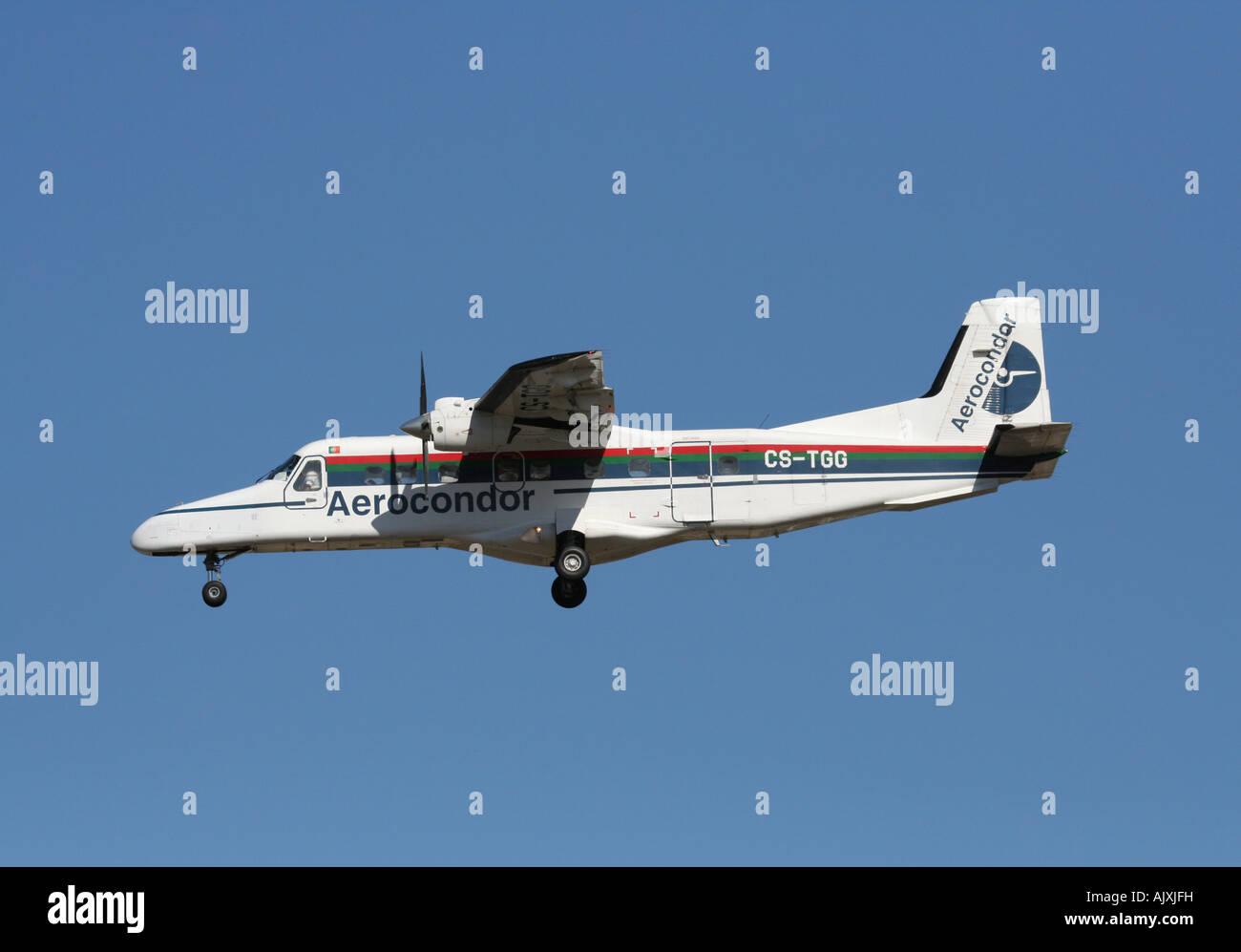 Aerocondor Dornier 228-202K turboprop commuter plane - Stock Image