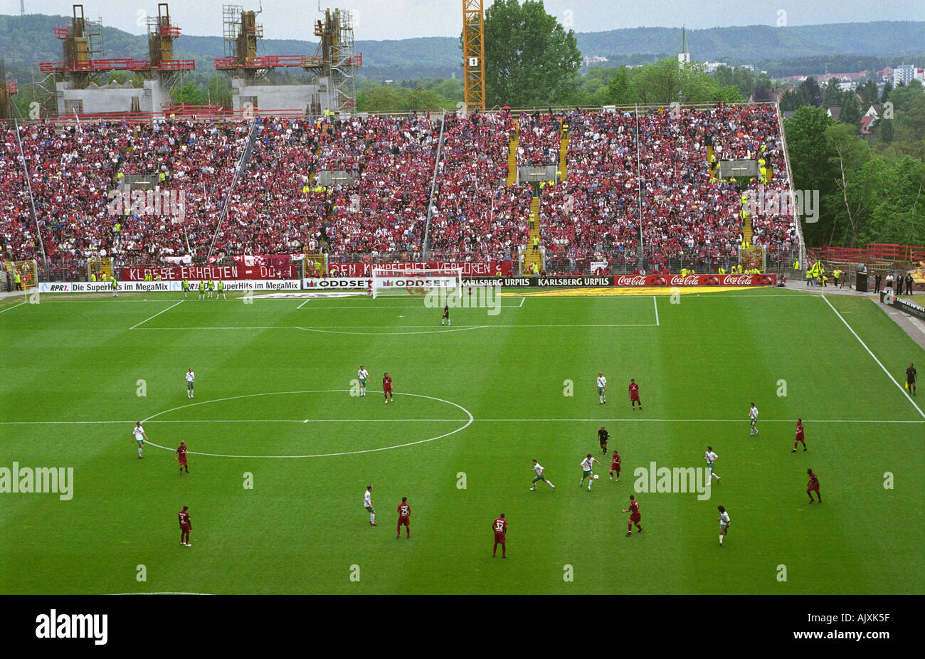 Fritz-Walter-Stadion during redevelopment for the 2006 World Cup finals, Kaiserslautern, Germany. - Stock Image