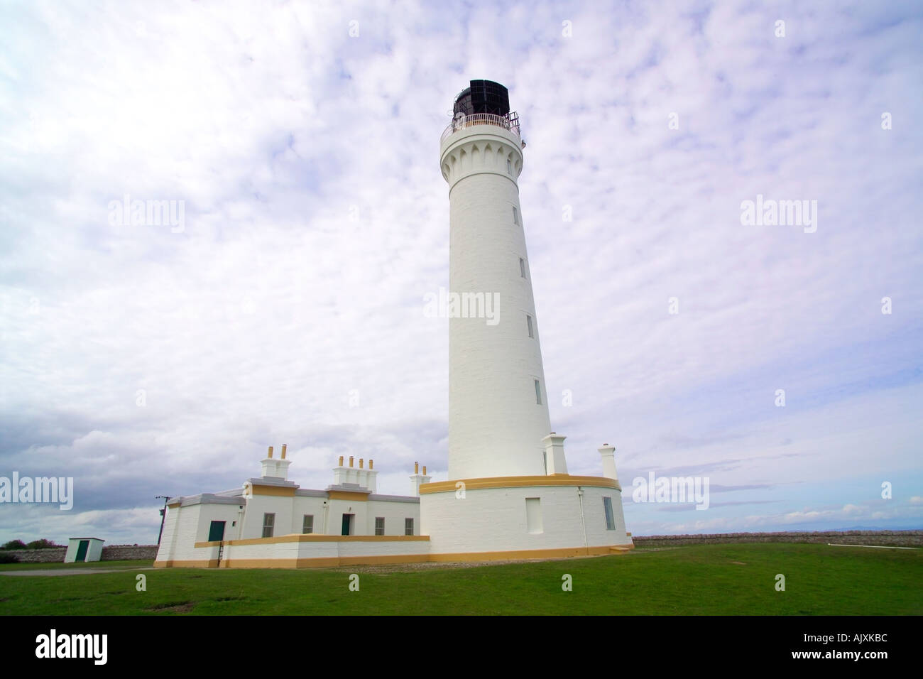 Covesea Skerries Lighthouse Moray Firth Scotland - Stock Image