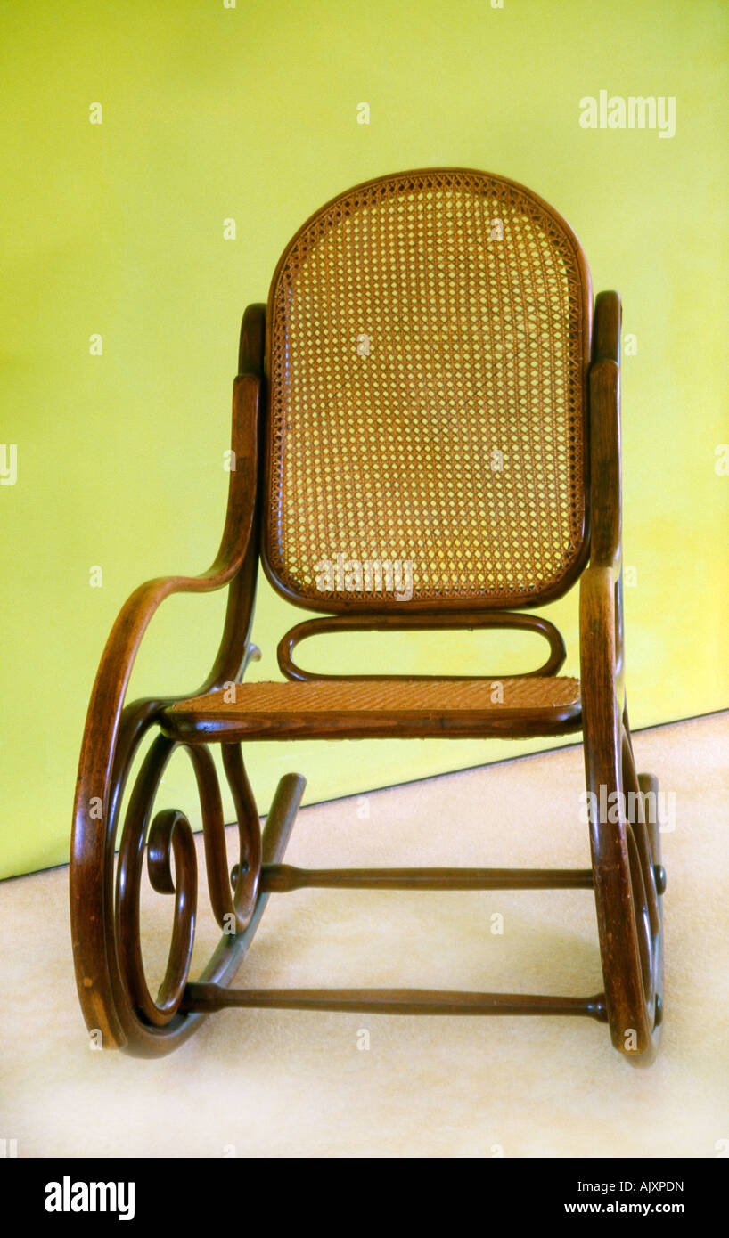 Bentwood Rocking Chair Cane Chair 1930s   Stock Image