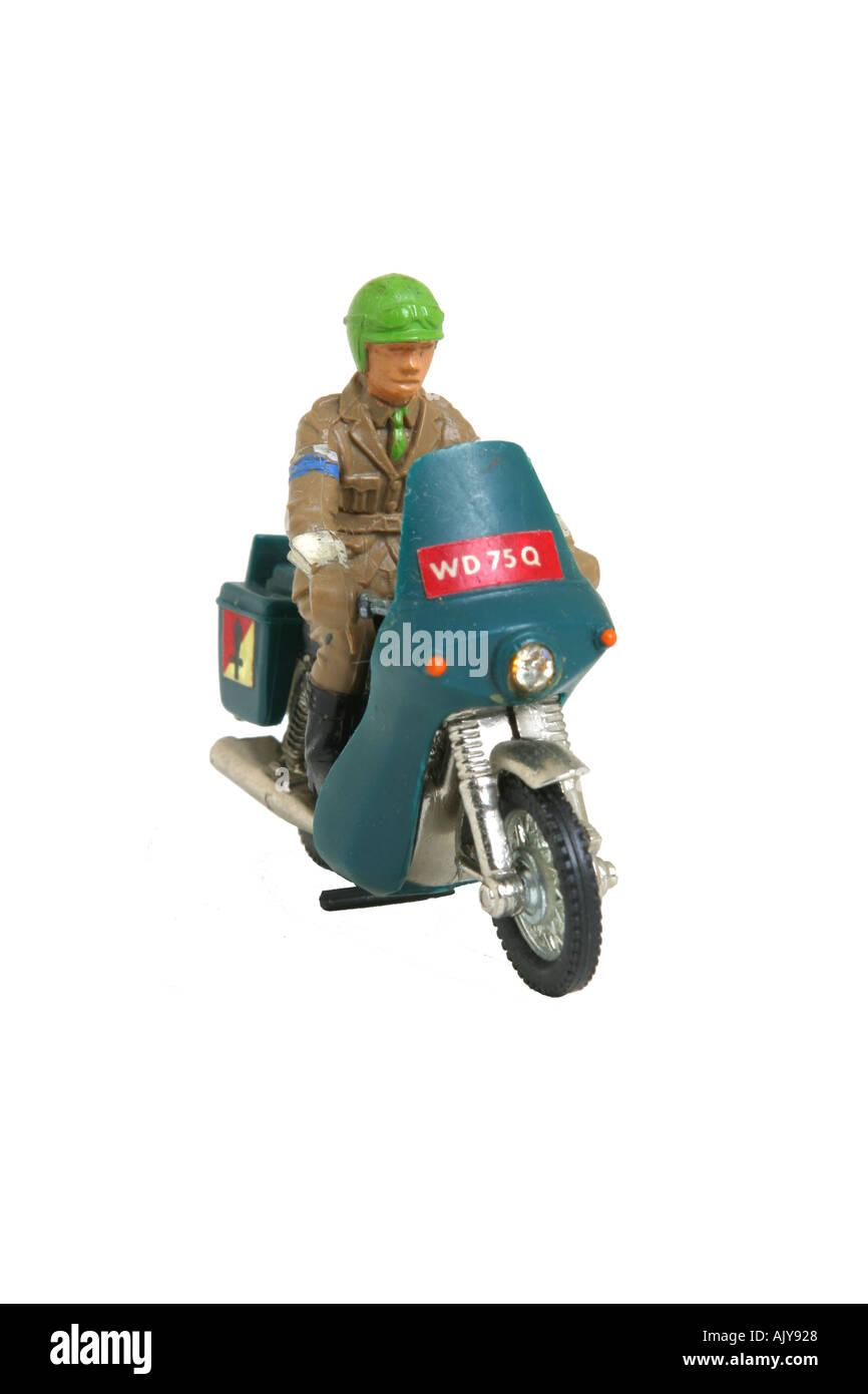Britains Deetail WW2 dispatch rider - Stock Image